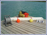 Model #P101-SS - 6 buoy course <i>package</i> with vinyl coated stainless steel mainline